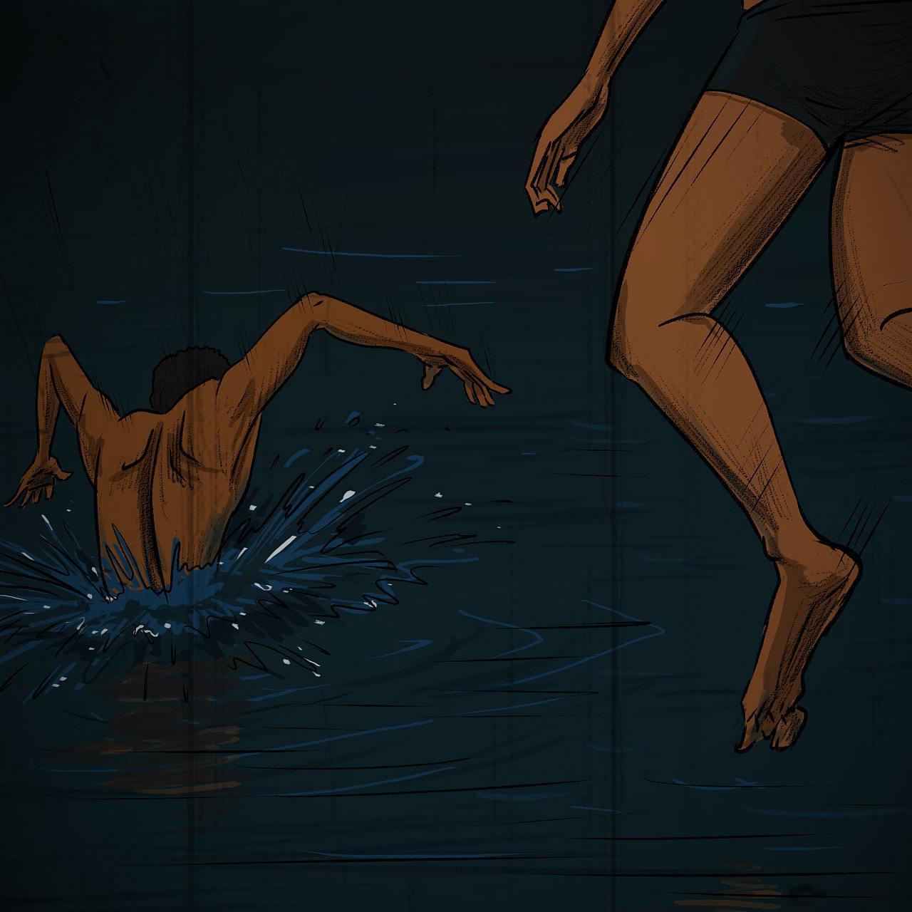 天津夜泳女子灵异事件