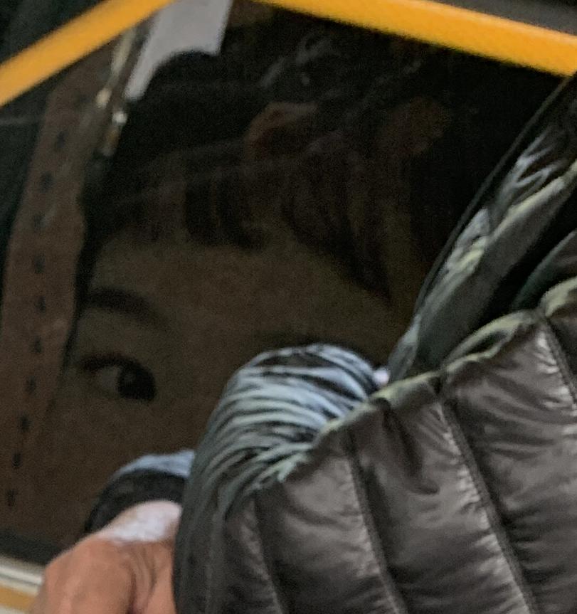 江门新会的公交车上拍到的诡异照片